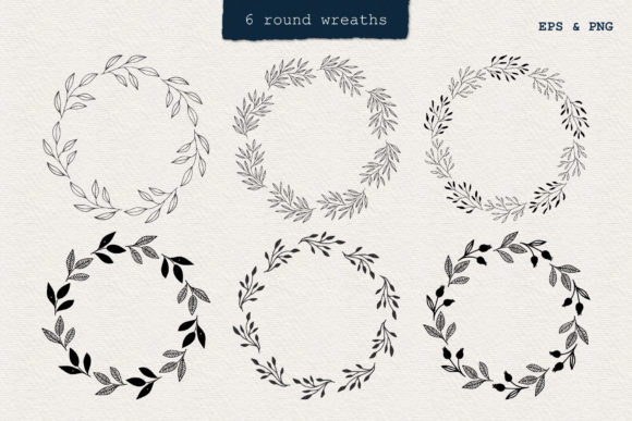 Set of Floral Frames Graphic Illustrations By anatartan - Image 2