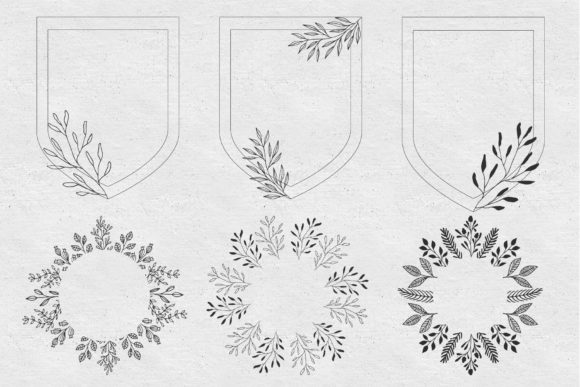 Set of Floral Frames Graphic Illustrations By anatartan - Image 11