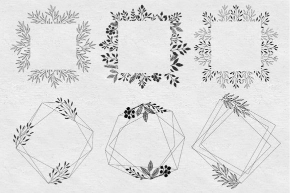 Set of Floral Frames Graphic Illustrations By anatartan - Image 10