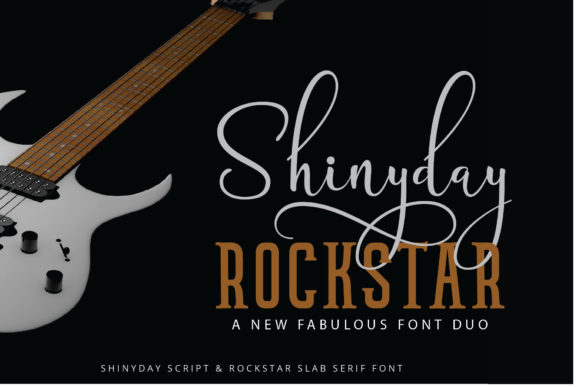 Print on Demand: Shinyday & Rockstar Duo Display Font By great19