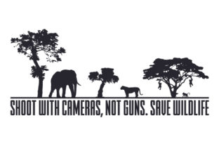 Shoot with Cameras, Not Guns. Save Wildlife Craft Design By Creative Fabrica Crafts