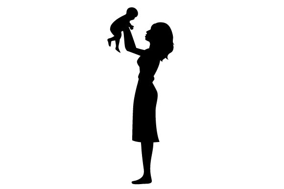 Download Free Silhouette Of Mum Raising A Child In The Air Svg Cut File By for Cricut Explore, Silhouette and other cutting machines.