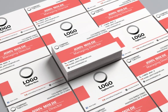Print on Demand: Simple Corporate Bussiness Card Graphic Print Templates By Dawn Studio