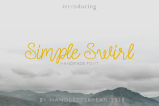 Simple Swirl Family Font By yean.aguste