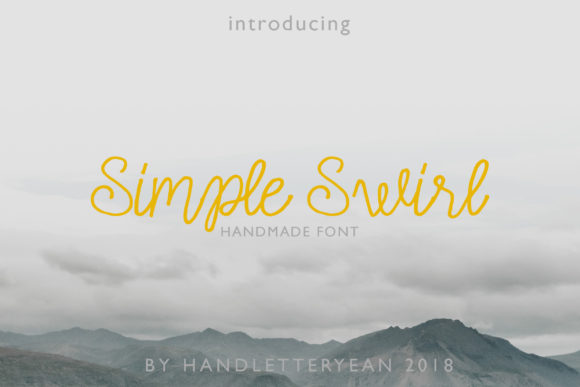 Print on Demand: Simple Swirl Family Script & Handwritten Font By yean.aguste - Image 1
