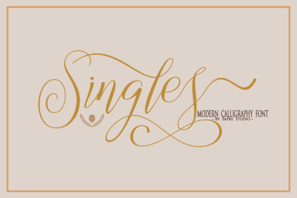 Print on Demand: Singles Script & Handwritten Font By sapre.studio