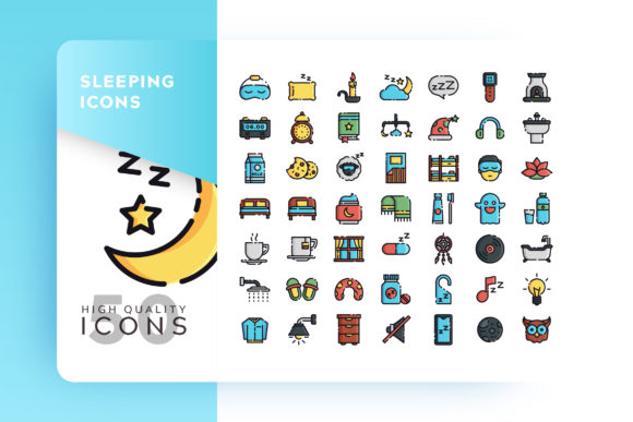 Sleeping Filled Icon Bundle Graphic By Goodware.Std Image 1