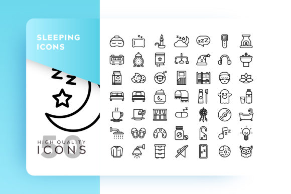 Sleeping Outline Icon Bundle Graphic By Goodware.Std Image 1