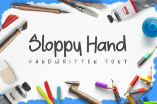 Sloppy Hand Font By Design A Lot