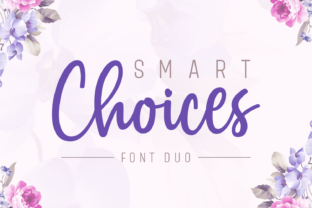 Print on Demand: Smart Choices Duo Script & Handwritten Font By Situjuh