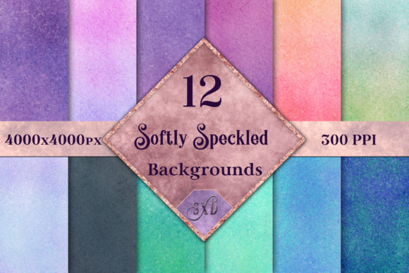 Print on Demand: Softly Speckled Backgrounds - 12 Image Set Graphic Backgrounds By SapphireXDesigns - Image 1