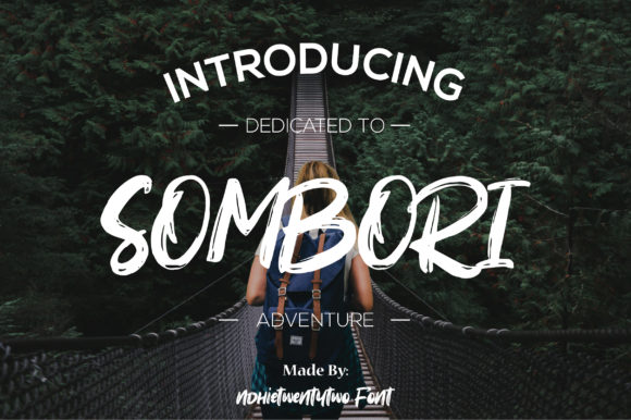 Print on Demand: Sombori Display Font By Ndhietwentytwo Font