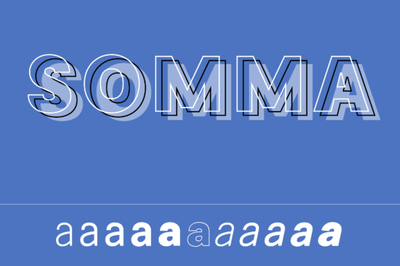 Print on Demand: Somma Family Sans Serif Font By Genilson Santos