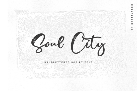 Print on Demand: Soul City Script & Handwritten Font By besttypeco