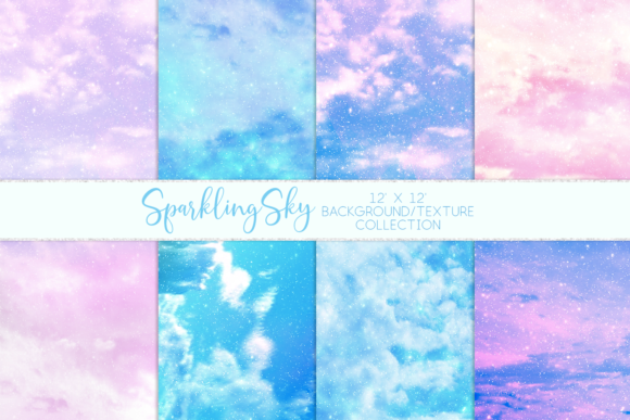 Print on Demand: Sparkling Sky Textures Graphic Textures By lilyuri0205