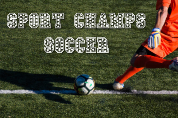 Print on Demand: Sport Champs Soccer Display Font By Anastasia Feya - Image 1