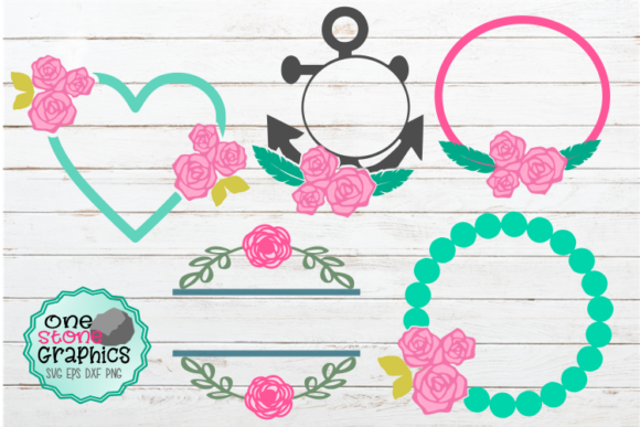 Spring Monogram Bundle Graphic Crafts By OneStoneGraphics - Image 1