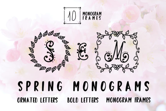 Print on Demand: Spring Monogram Decorative Font By Illustrator Guru - Image 1