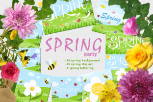 Spring Party Graphic By InkandBrush