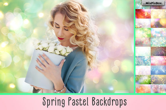 Print on Demand: Spring Pastel Backdrops Graphic Layer Styles By MixPixBox