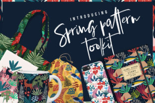 Spring Pattern Toolkit Graphic By Caoca Studios