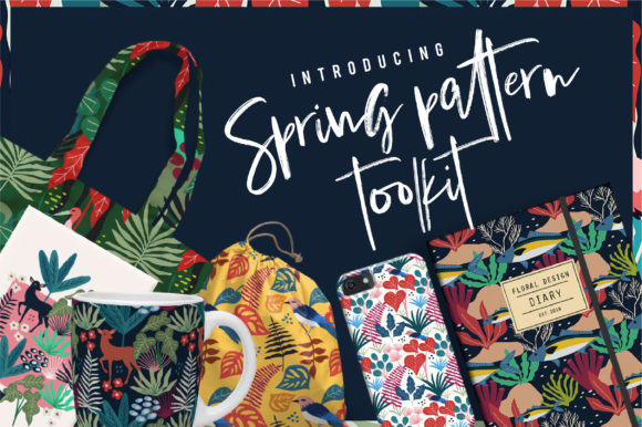 Print on Demand: Spring Pattern Toolkit Graphic Patterns By Caoca Studios