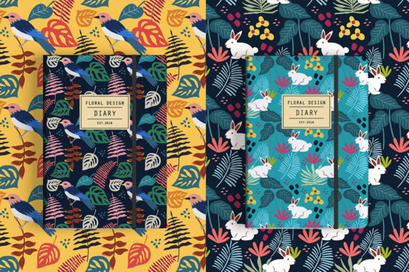 Print on Demand: Spring Pattern Toolkit Graphic Patterns By Caoca Studios - Image 9