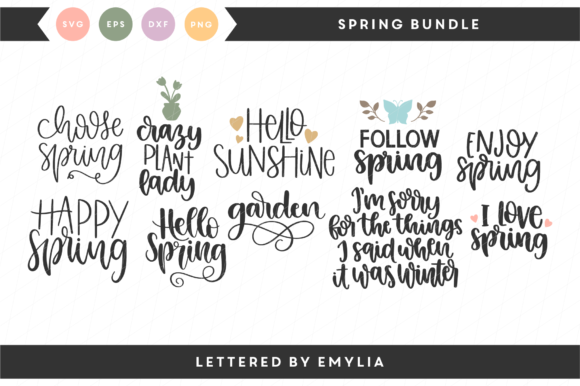 Spring Bundle Graphic Crafts By Lettered by Emylia