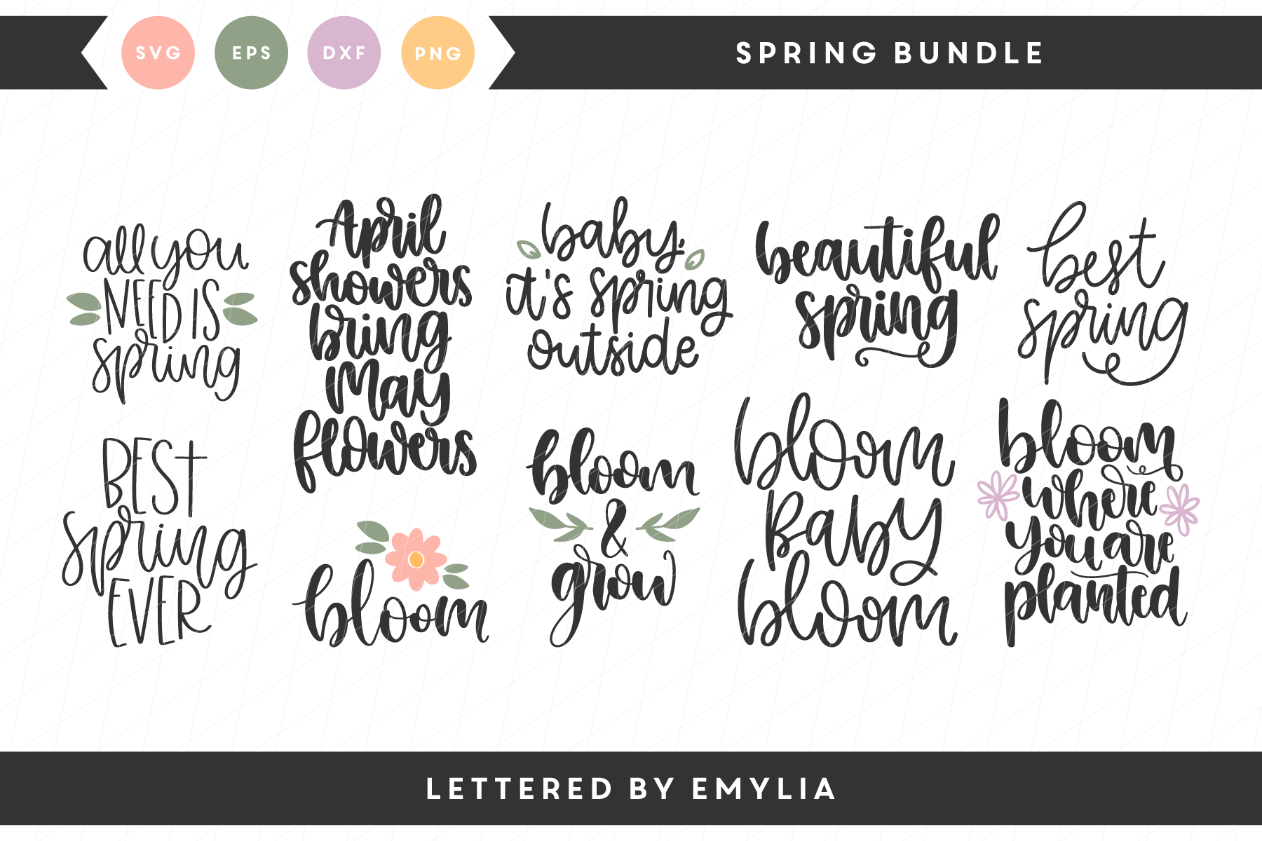 Spring Bundle Graphic By Lettered By Emylia Creative Fabrica