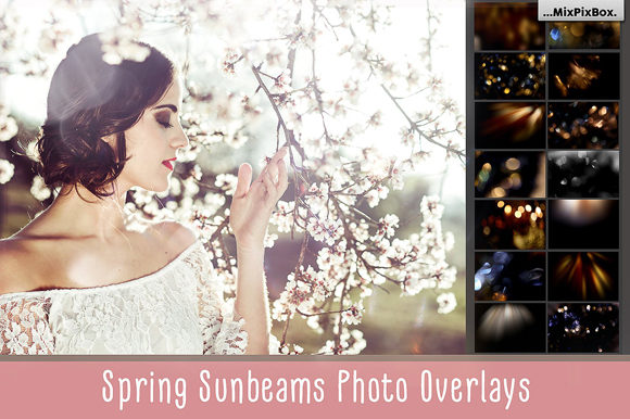 Print on Demand: Spring Sunbeams Photo Overlays Graphic Layer Styles By MixPixBox