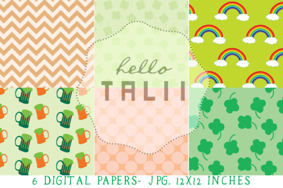 Download Free St Patrick S Day Clip Art Digital Paper Graphic By Hello Talii for Cricut Explore, Silhouette and other cutting machines.