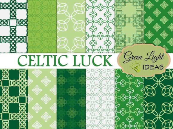 Download Free St Patricks Day Irish Celtic Digital Papers Graphic By for Cricut Explore, Silhouette and other cutting machines.