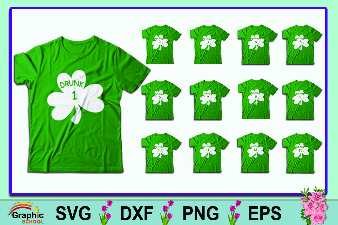 Download Free St Patricks Day T Shirt Bundle Graphic By Graphice School for Cricut Explore, Silhouette and other cutting machines.