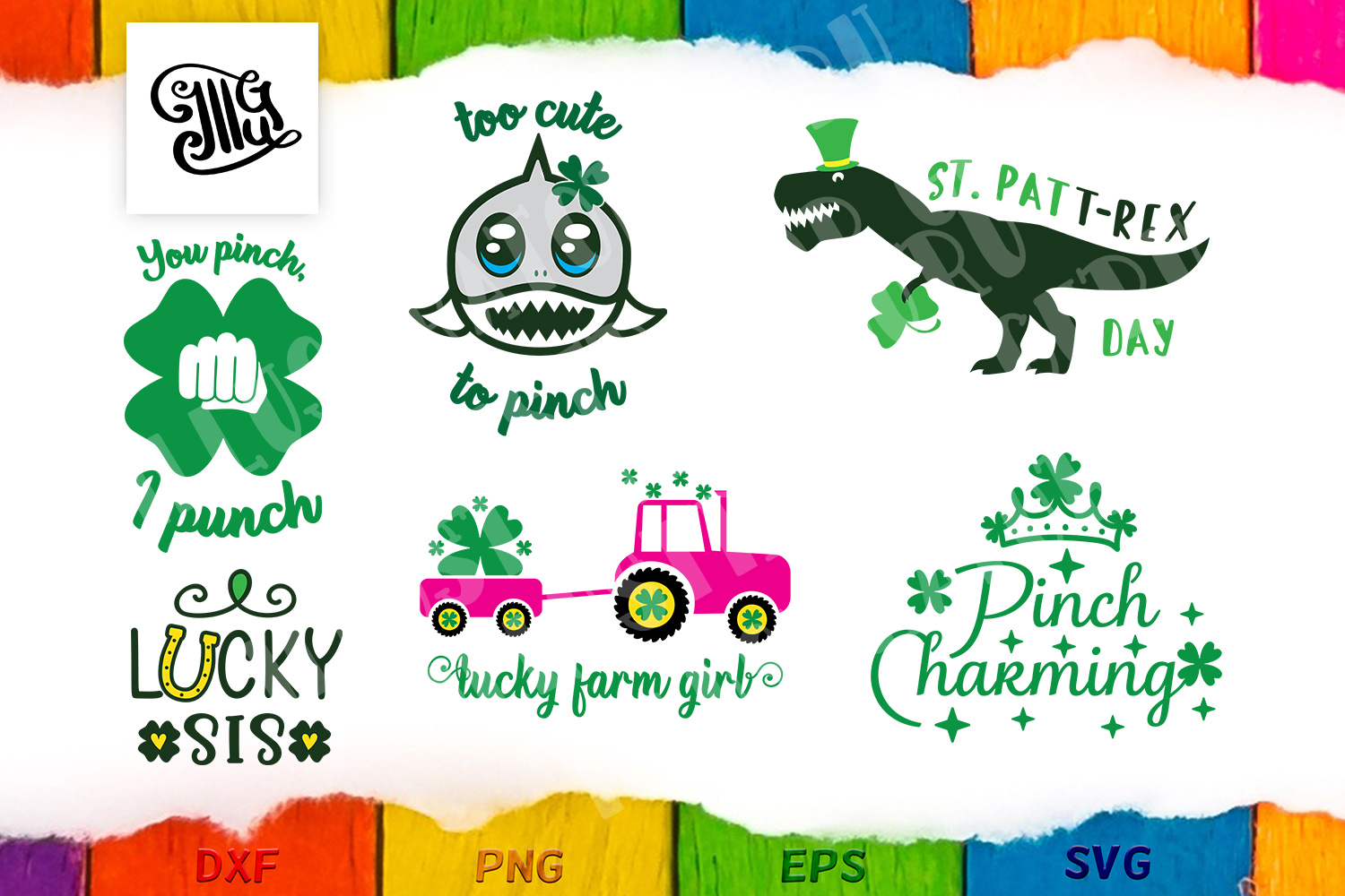 Download Free St Patrick S Day Bundle 13 Designs Graphic By Illustrator Guru for Cricut Explore, Silhouette and other cutting machines.