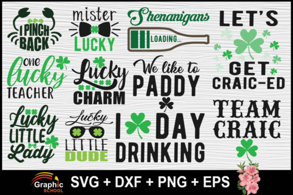 Download Free St Patricks Day Tshirts Graphic By Graphice School Creative Fabrica for Cricut Explore, Silhouette and other cutting machines.