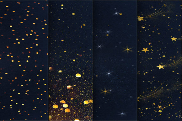 Print on Demand: Starry Night Backgrounds Graphic Backgrounds By MixPixBox - Image 2