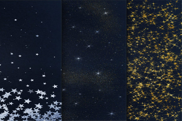 Print on Demand: Starry Night Backgrounds Graphic Backgrounds By MixPixBox - Image 3