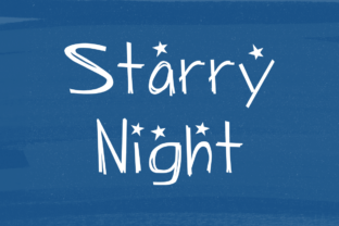 Starry Night Font By laurenashpole