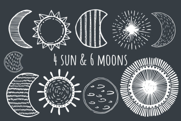 Stars, Moons & Comets Graphic By anatartan Image 3