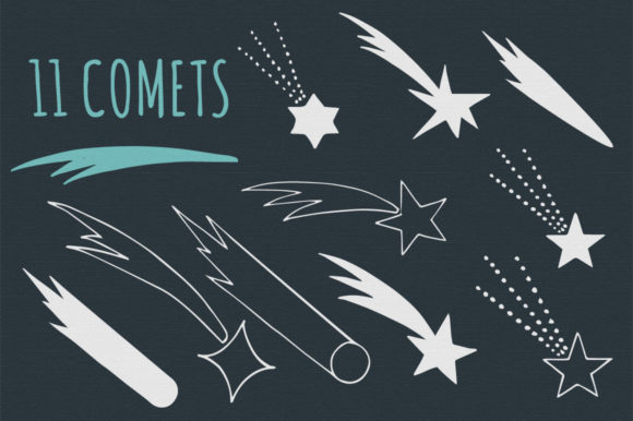 Stars, Moons & Comets Graphic By anatartan Image 4