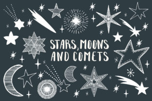 Stars, Moons & Comets Graphic By anatartan