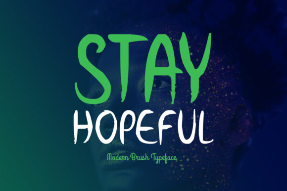 Print on Demand: Stay Hopeful Display Font By Spanking Fonts