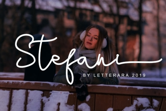 Print on Demand: Stefani Family Script & Handwritten Font By thomasaradea