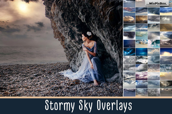 Print on Demand: Stormy Sky Overlays Grafik Layer-Stile von MixPixBox