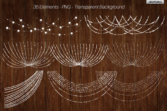 Print on Demand: String Lights V3 Clipart+backgrounds Graphic Illustrations By MixPixBox - Image 3