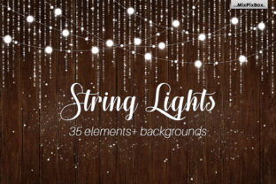 String Lights V3 Clipart+backgrounds Graphic By MixPixBox