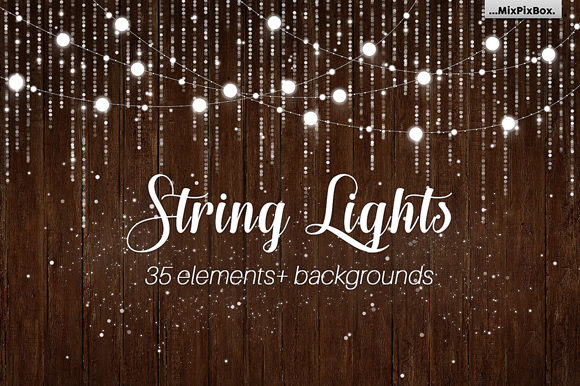 Download Free String Lights V3 Clipart Backgrounds Graphic By Mixpixbox for Cricut Explore, Silhouette and other cutting machines.