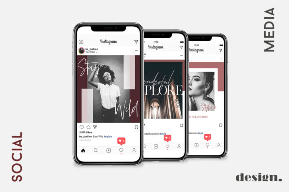 Print on Demand: Stylish Social Media Pack Graphic Web Elements By Awesome Templates - Image 3