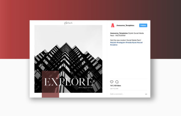 Print on Demand: Stylish Social Media Pack Graphic Web Elements By Awesome Templates - Image 6