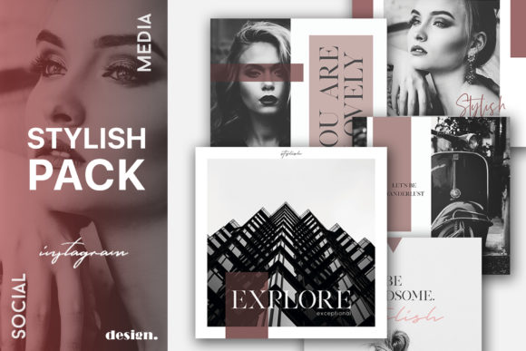 Print on Demand: Stylish Social Media Pack Graphic Web Elements By Awesome Templates - Image 1